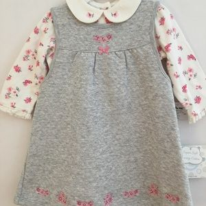 Little me grey dress set